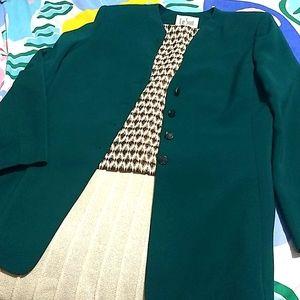 Le Suit forest green blazer